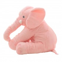 Elephant Baby Pillow Sleep Appease Doll Soft Plush Toy , Pink