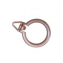 Set of 30 Classic Curtain Accessory Plastic Curtain Hanger Rings, internal diameter 4.2cm, Rose Gold