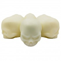 3D Skull Silicone Ice Cube Mold Tray Party Ice Cube Maker Whiskey Ice Ball Maker, 6 Funny Skull Faces Yellow