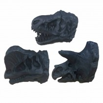 3 Pcs Dresser Handle Pulls Simulation Dinosaur Drawer Knobs Resin Furniture Hardware, Matte Black
