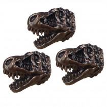 3 Pcs Resin Simulation Dinosaur Fossil Bone Knobs Tyrannosaurus Drawer Knobs and Pulls Use for Cabinet, Bronze