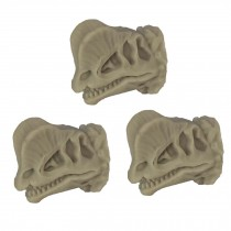 3 Pcs Simulation Dinosaur Skeleton Drawer Knobs Resin Dilophosaurus Knobs Kids Closet Handle Pulls