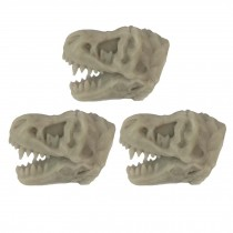 3 Pcs Simulation Dinosaur Fossil Drawer Knobs Tyrannosaurus Dresser Handle Pulls Resin Furniture Hardware