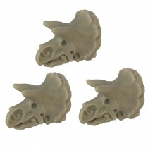3 Pcs Simulation Dinosaur Skeleton Drawer Knobs Resin Triceratops Knobs Cabinet Hardware