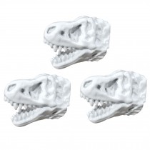 3 Pcs Simulation Dinosaur Drawer Knobs Resin Tyrannosaurus Handle for Closet Wardrobe Cabinet, White