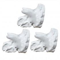3 Pcs Simulation Dinosaur Drawer Knobs Resin Triceratops Closet Pulls Furniture Handle Hardware, White