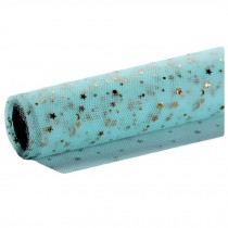 Star Flower Wrapping Paper Mesh Gauze Korean Style Floral Bouquet Gift Wrap, Blue