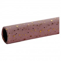 Pink Flower Wrapping Paper Mesh Gauze Gift Wrapping Paper Roll, Stars