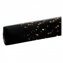 Gold Star Moon Mesh Korean Wrapping Paper Black Flower Bouquet Wrap Packaging Supplies