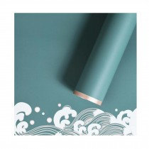 20 Sheets Japanese Style Flower Wrapping Paper Bouquet Floral Wraps Supplies, Green