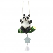 Resin Panda Wind Chime Bell Small Bedroom Door Decoration Hanging Wind Chime Outdoor