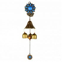 Rustic Metal Wind Chime Chinese Style Sunflower Wind Chime Shop Doorbell for Indoor Outdoor