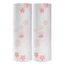 2 Rolls Sakura Kitchen Paper Towels Disposable Dish Washcloth Kitchen Tissue Paper