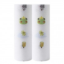 2 Rolls Kitchen Paper Towels Disposable Dish Cloths Cleaning Towel Kitchen Tissue Paper, Frog