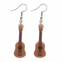 Lightweight Drop Hook Guitar Earrings Music Instruments Long Pendant Music Lover Women Dangle Earring, 2 Pairs