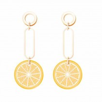 Cute Orange Earring Fruit Drop Dangle Earring Acrylic Earrings for Women, 1 Pair