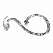 Vintage Silver Color Snake Stud Earrings Cuff Wrap Earrings Left Ear Scare Earring, 4 Pcs