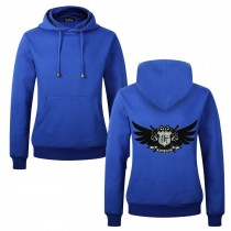Men's Embroidery Road Killer Pullover Hooded Sweatshirt for Spring Autumn, Blue