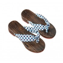 Womens Clogs Wood & Cloth Sandals Geta Breathable Casual Flip Flops