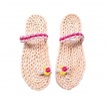 Handmade Woven Slippers Straw Sandals Flip Flops for Womens Casual style