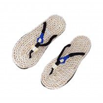 Straw Woven Slippers Mens Handmade Sandals Casual style Flip Flops