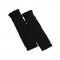 Women's Boots Socks Knitted Long Boot Cuffs Ladies Leg Warmers Socks, Black