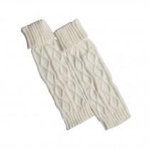 Women's Boots Socks Knitted Long Boot Cuffs Ladies Leg Warmers Socks, White