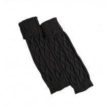 Women's Boots Socks Knitted Long Boot Cuffs Ladies Leg Warmers Socks, Dark Grey