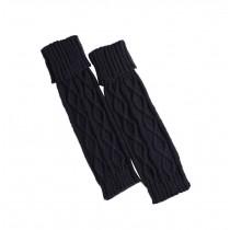 Women's Boots Socks Knitted Long Boot Cuffs Ladies Leg Warmers Socks, Dark Blue
