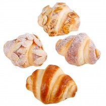 4 Pcs Artificial Breads Simulation Fake Food Home Bakery Decor Photography