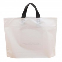 White - 50 Pieces Plastic Shopping Bags Gift Bag Clear Boutique Bags Carry bag