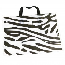 Zebra Pattern - 50 Pcs Plastic Boutique Bags Retail Store Shopping Bags Gift Bag