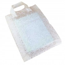 White Lace - 50 Pieces Plastic Gift Bags Boutique Bags Retail Shopping Bags