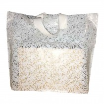 White Lace - 50 Pieces Plastic Gift Bags Boutique Bags Merchandise Shopping Bags