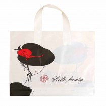 Beauty - 50 Pieces Plastic Shopping Bags Gift Bags Boutique Bags Retail Tote Bag