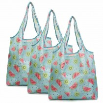 Watermelon - 3 Pieces Reusable Grocery Bags Foldable Boutique Shopping Bags Portable Merchandise Tote Bags