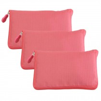 Watermelon Red - 3 Pieces Reusable Grocery Bags Portable Boutique Shopping Bags Supermarket Foldable Tote Bags