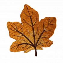 10 Pcs Orange Maple Leaf Embroidered Applique Crafting Making DIY Clothing Decoration Sew on Applique