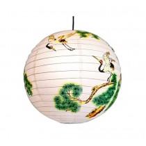 "[Pine] Round Chinese/Japanese Style Hanging lantern Decorative Paper Lantern 16"""