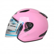 "Gloss Pink Motorcycle Helmet Street Bike Open Face Helmet (L,22""-23 1/5"")"