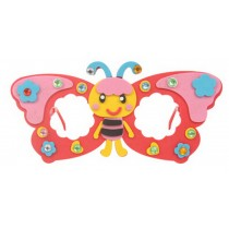 Set of 3 EVA Sticker Easy Crafts for Kids DIY Colorful Glasses(Bee)