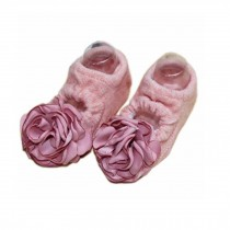 2 Pairs Baby Girl Socks Anti-slip Foot Socks for 6 - 18 Months Infants/ Toddlers