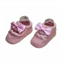 2 Pairs Beautiful Bowknot Baby Socks for Baby Girls, Pink[B]