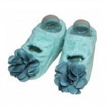 2 Packs Breathable Cotton Socks Low Cut Socks for Baby Girls, Green[E]