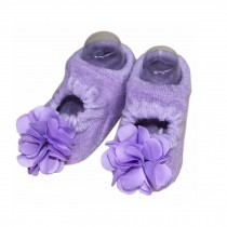 2 Packs Breathable Cotton Socks Low Cut Socks for Baby Girls, Purple[E]