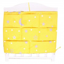 Star Pattern Baby Bedside Bag Multilayer Pouch Diaper Bag Storage Bag