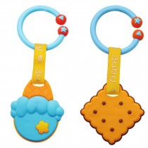 Toddler Relieving Teether Newborn Infant Training Soft Teeting ICE CREAM&BISCUIT