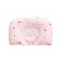 Comfortable And Soft Cotton Baby Pillow Shape Prevent Flat Head Pillow PINK
