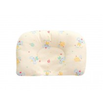 Comfortable And Soft Cotton Baby Pillow Shape Prevent Flat Head Pillow YELLOW
