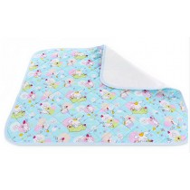 Toddler Waterproof Washable Diaper Changing Mat Pad(Blue Pup)-75*120cm